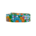 Flowers and Bees on Blue Gingham Ribbon