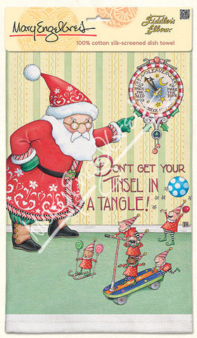 Tinsel In A Tangle Dish Towel