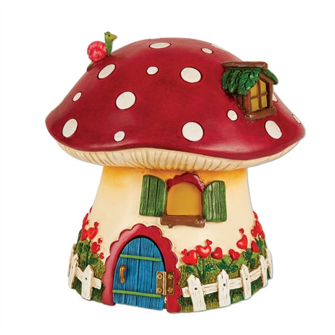 Mini Red Mushroom Solar Fairy Cottage