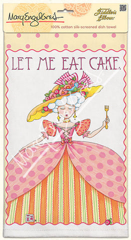 Let Me Eat Cake Dish Towel