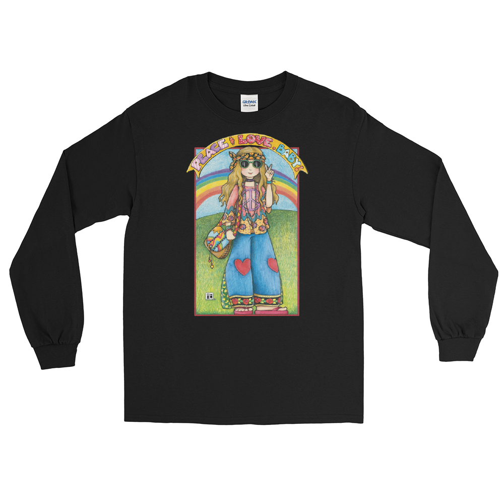 """Hippie Chick"" Long Sleeve Shirt"