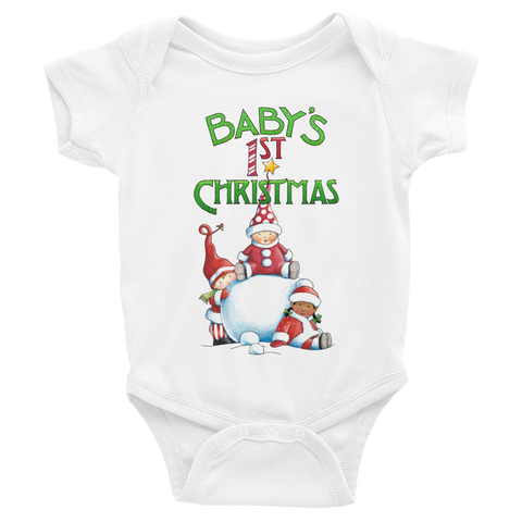 """Baby's First Christmas"" Infant Bodysuit"