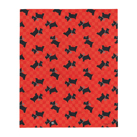 """Scotties"" Throw Blanket"
