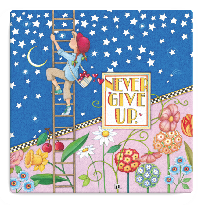 """Never Give Up"" Stretched Canvas"