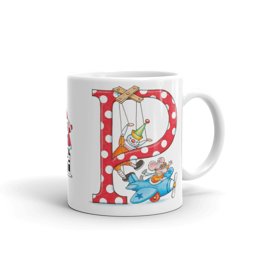 "A Merry Little Christmas ""Letter P"" Mug"