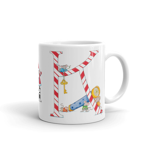 "A Merry Little Christmas ""Letter K"" Mug"