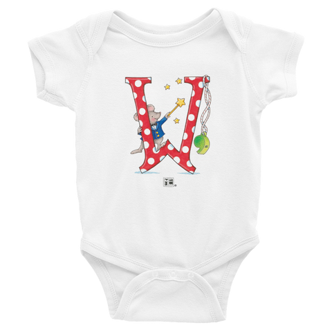 "A Merry Little Christmas ""Letter W"" Infant Bodysuit"