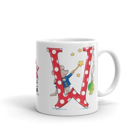 "A Merry Little Christmas ""Letter W"" Mug"