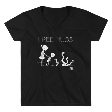 """Free Hugs"" Women's V-Neck Shirt"