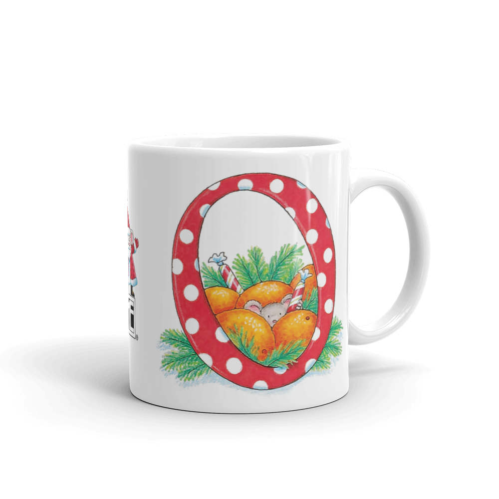 "A Merry Little Christmas ""Letter O"" Mug"