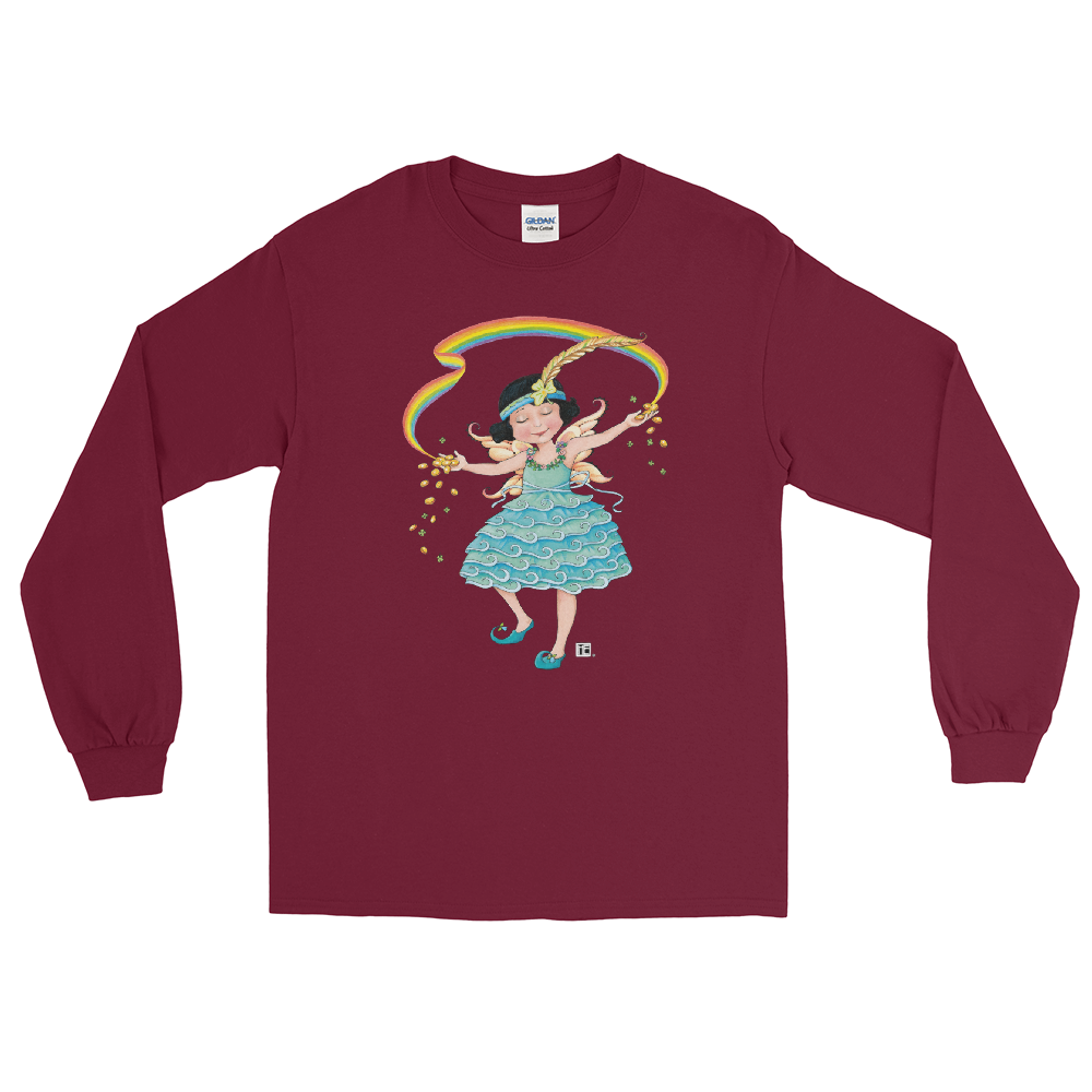 """Rainbow Fairy Gold"" Long Sleeve Shirt"