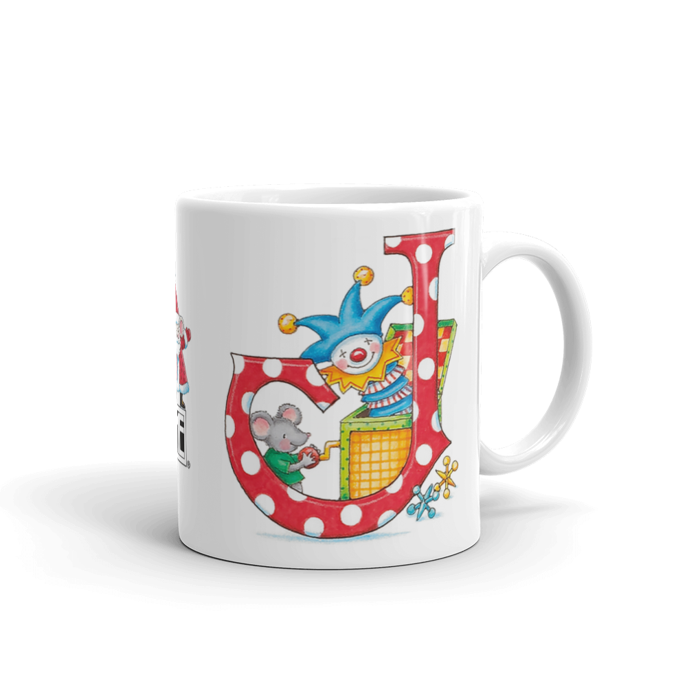 "A Merry Little Christmas ""Letter J"" Mug"