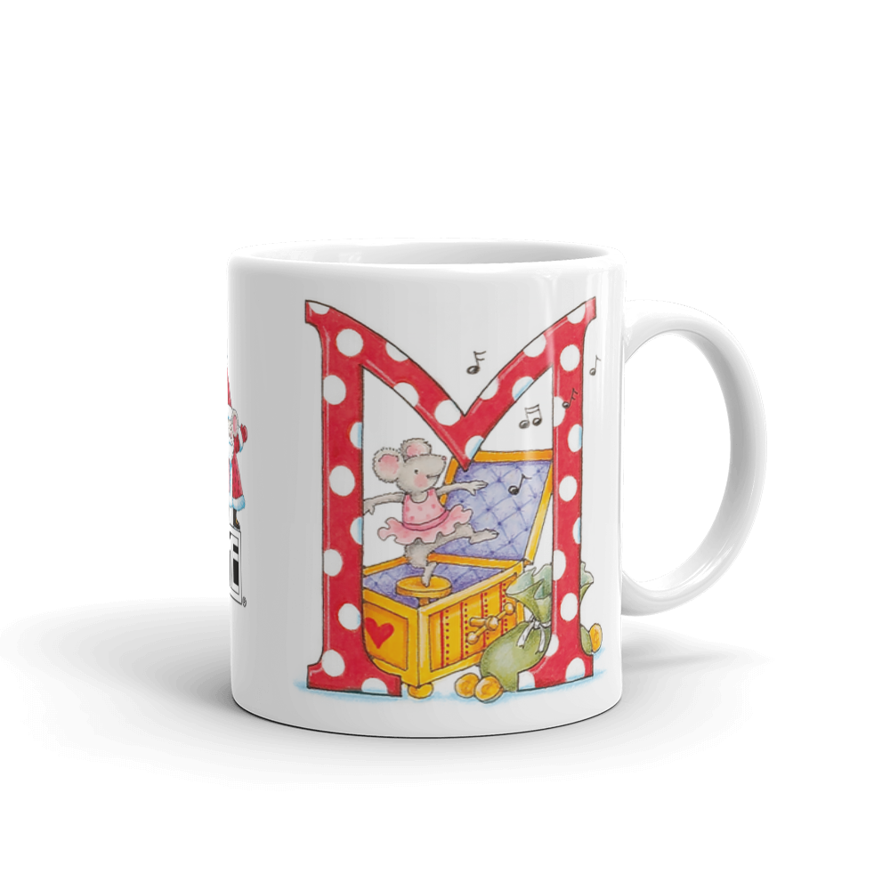"A Merry Little Christmas ""Letter M"" Mug"
