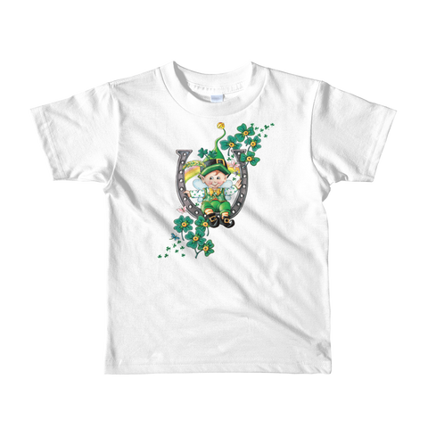 """Lucky Leprechaun"" Little Kids T-Shirt"