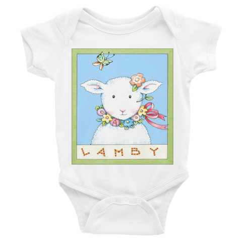 """Spring Lamby"" Infant Bodysuit"