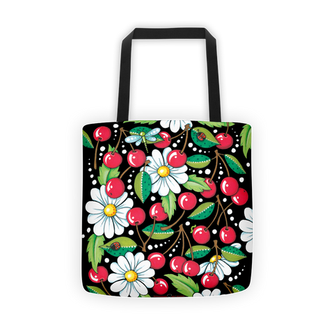 """Cherry Daisy"" Tote Bag"