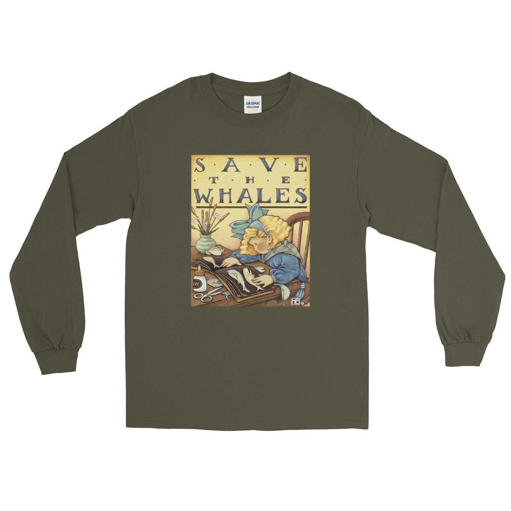 """Save the Whales"" Long Sleeve Shirt"