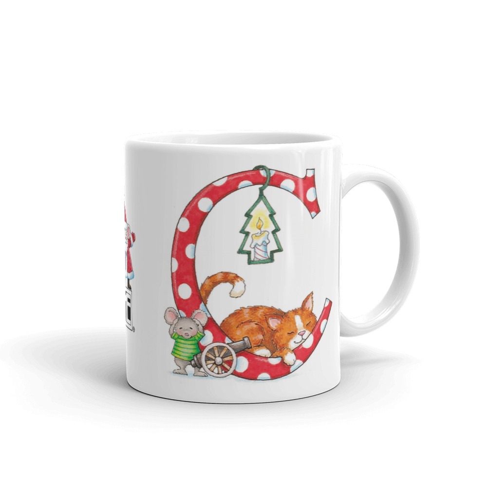 "A Merry Little Christmas ""Letter C"" Mug"