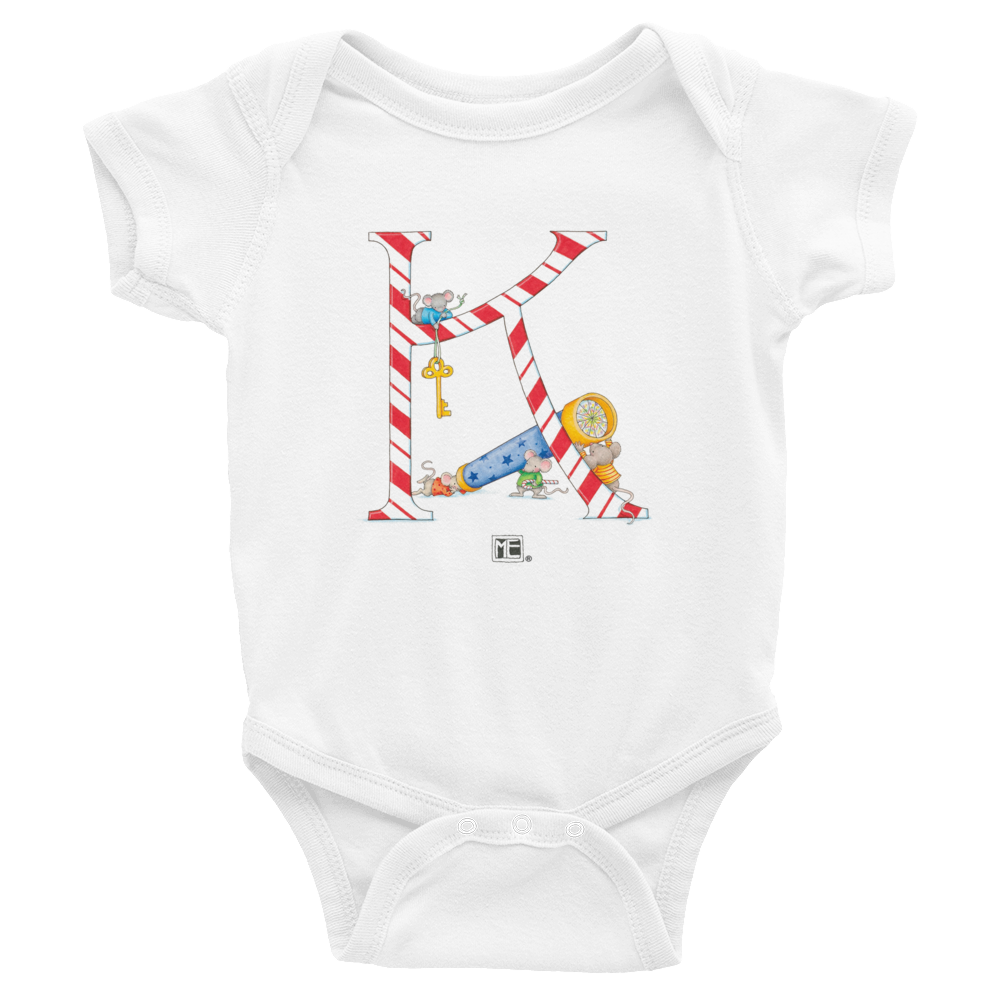 "A Merry Little Christmas ""Letter K"" Infant Bodysuit"
