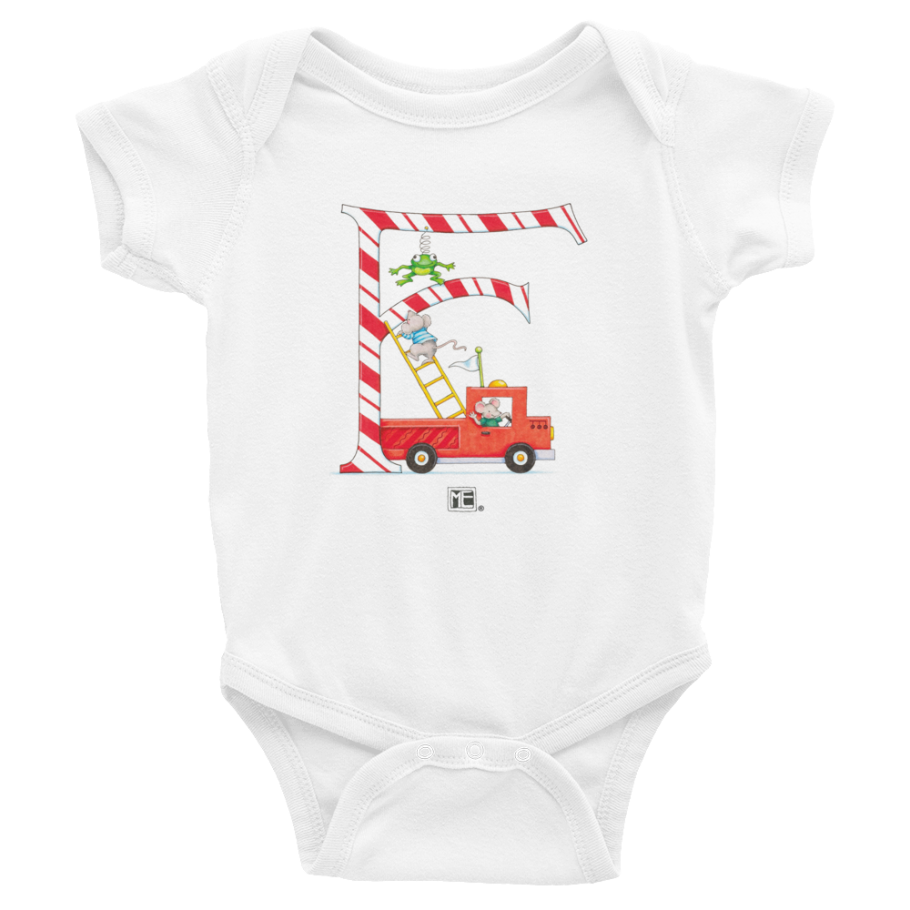 "A Merry Little Christmas ""Letter F"" Infant Bodysuit"