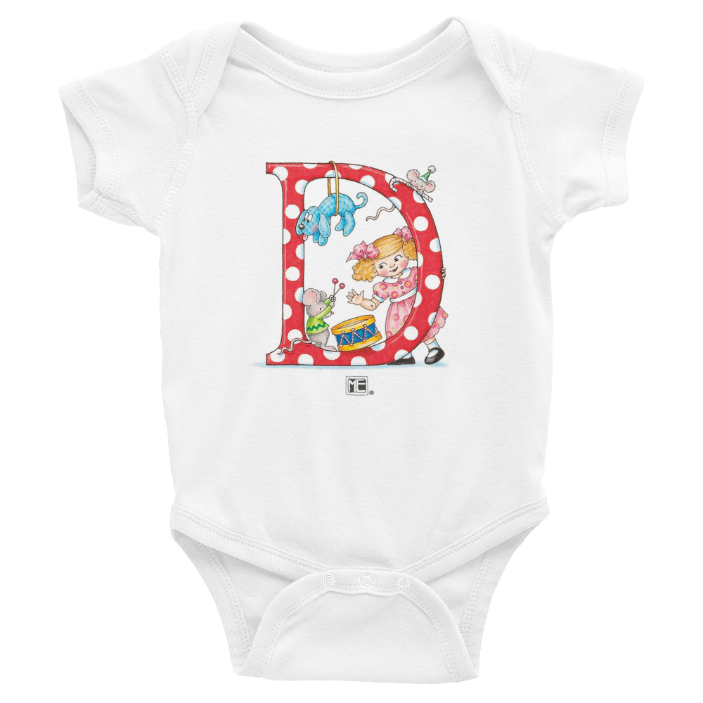 "A Merry Little Christmas ""Letter D"" Infant Bodysuit"
