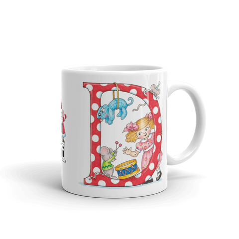 "A Merry Little Christmas ""Letter D"" Mug"