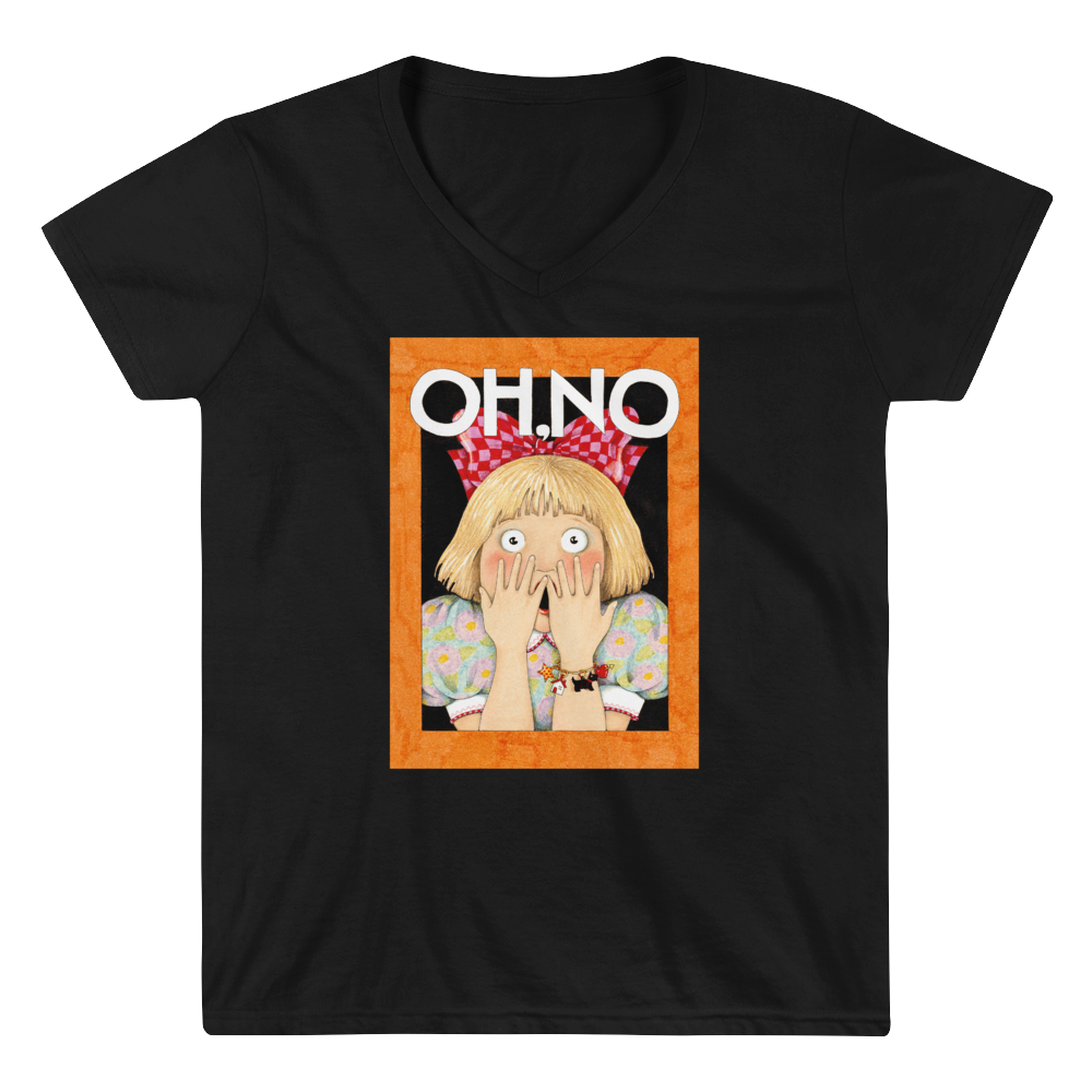 """Oh No"" Women's V-Neck Shirt"