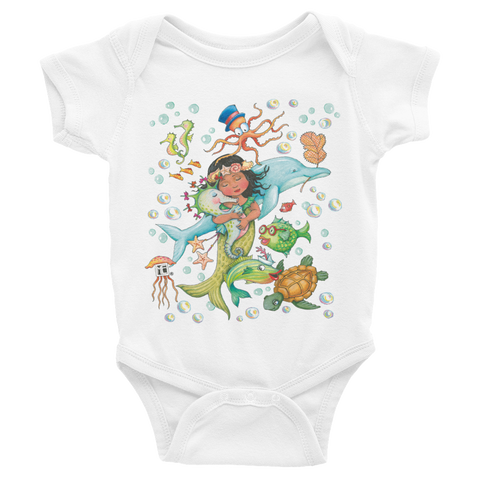 """Just Keep Swimming"" Infant Bodysuit"