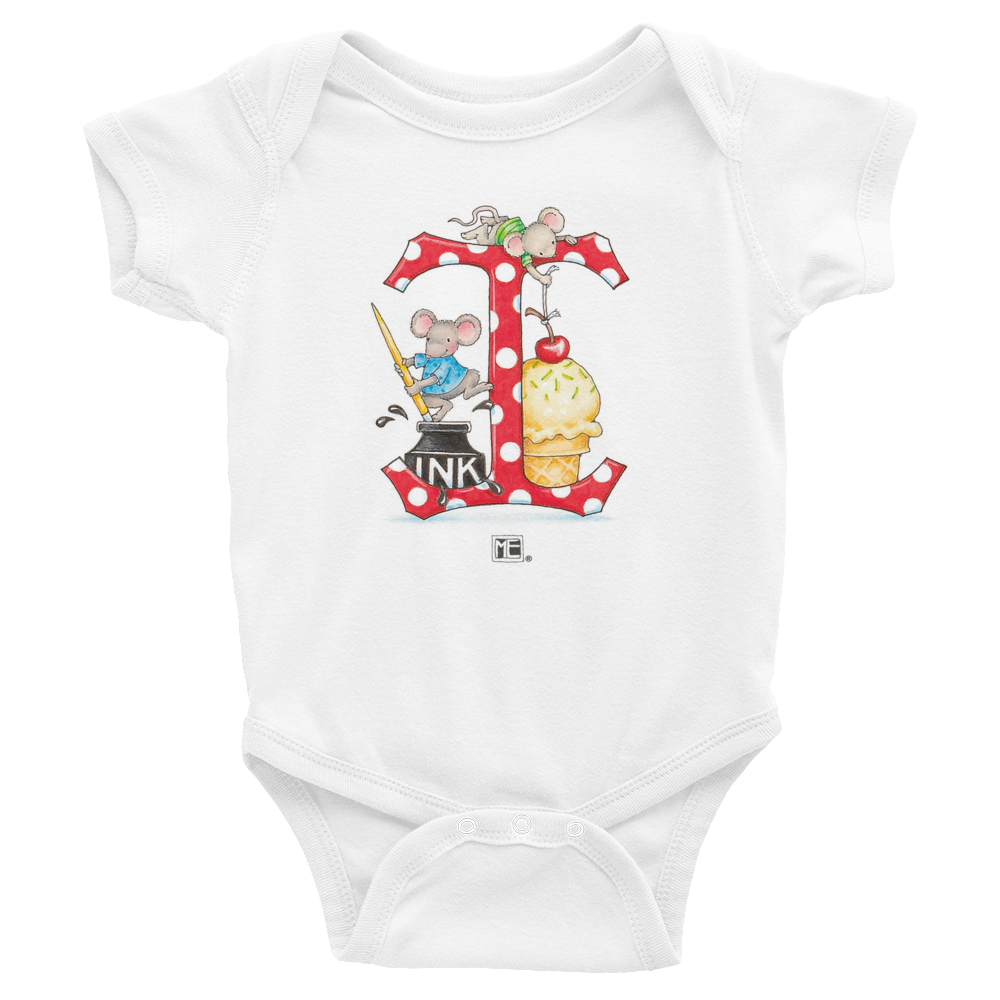 "A Merry Little Christmas ""Letter I"" Infant Bodysuit"