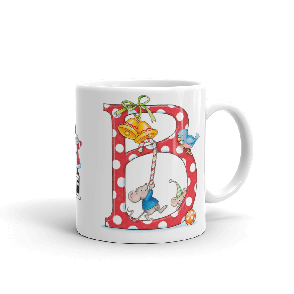 "A Merry Little Christmas ""Letter B"" Mug"