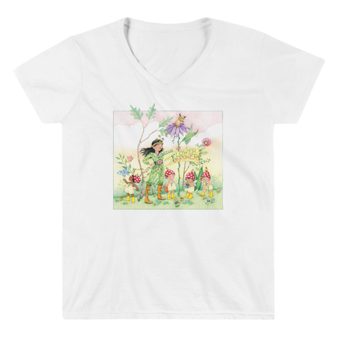 """Flower Power"" Women's V-Neck Shirt"
