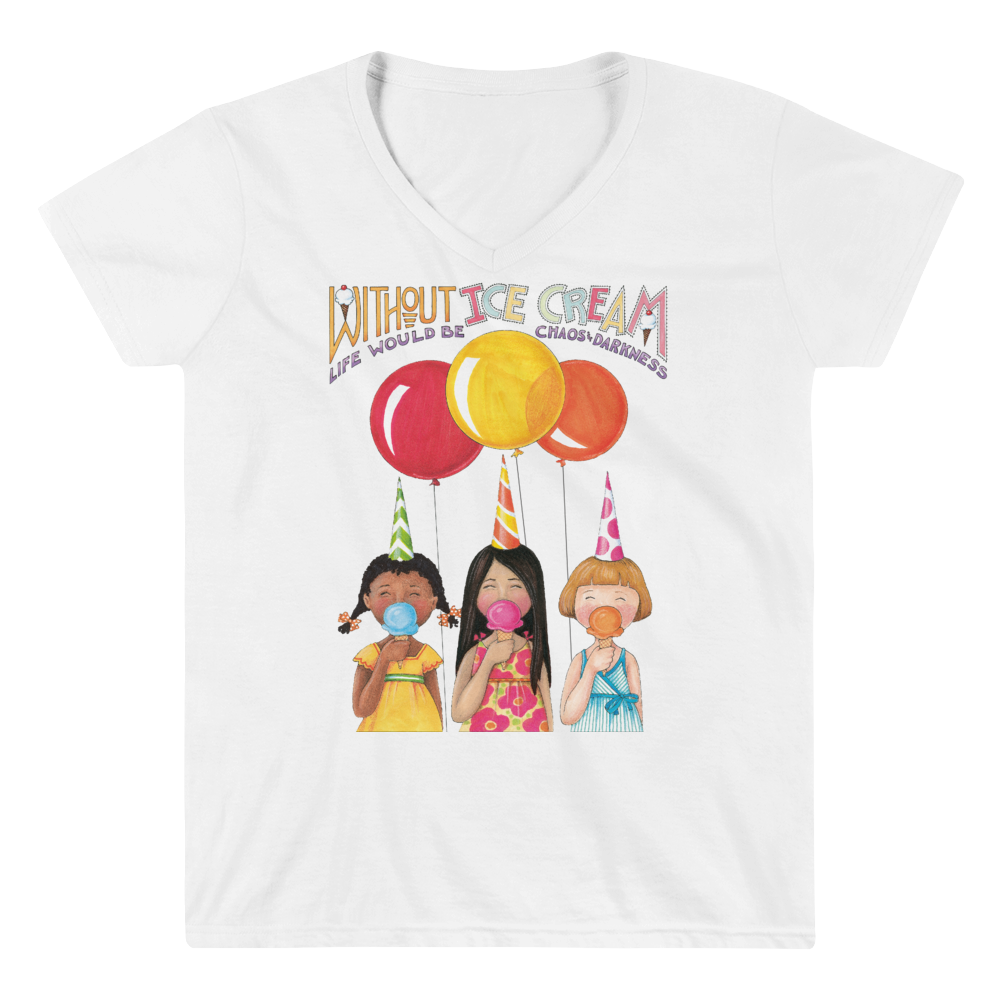 """Ice Cream"" Women's V-Neck Shirt"