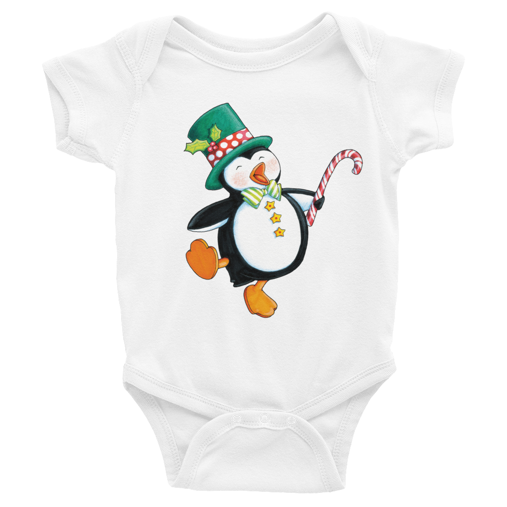 """Holiday Penguin"" Infant Bodysuit"