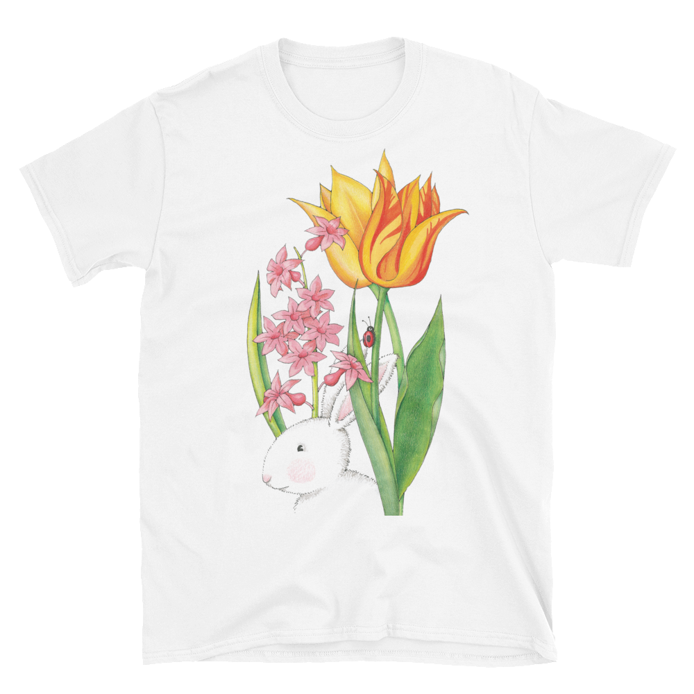 """Blooming Bunny"" Unisex T-Shirt"