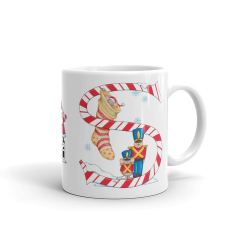 "A Merry Little Christmas ""Letter S"" Mug"