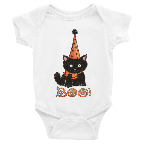 """Boo Kitty"" Infant Bodysuit"