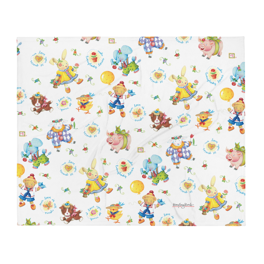 """Animal Frolic"" Throw Blanket"