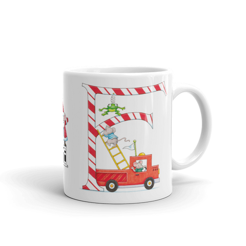 "A Merry Little Christmas ""Letter F"" Mug"