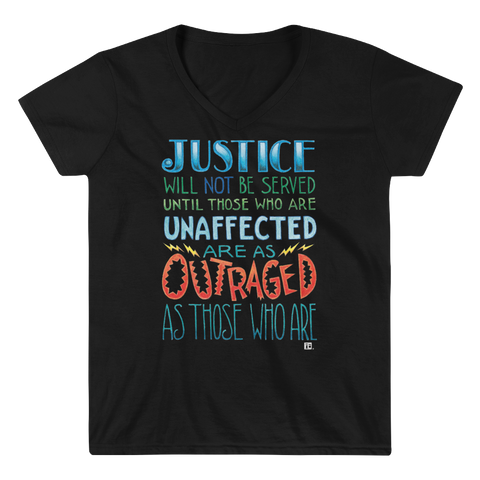 """Justice"" Women's V-Neck Shirt"
