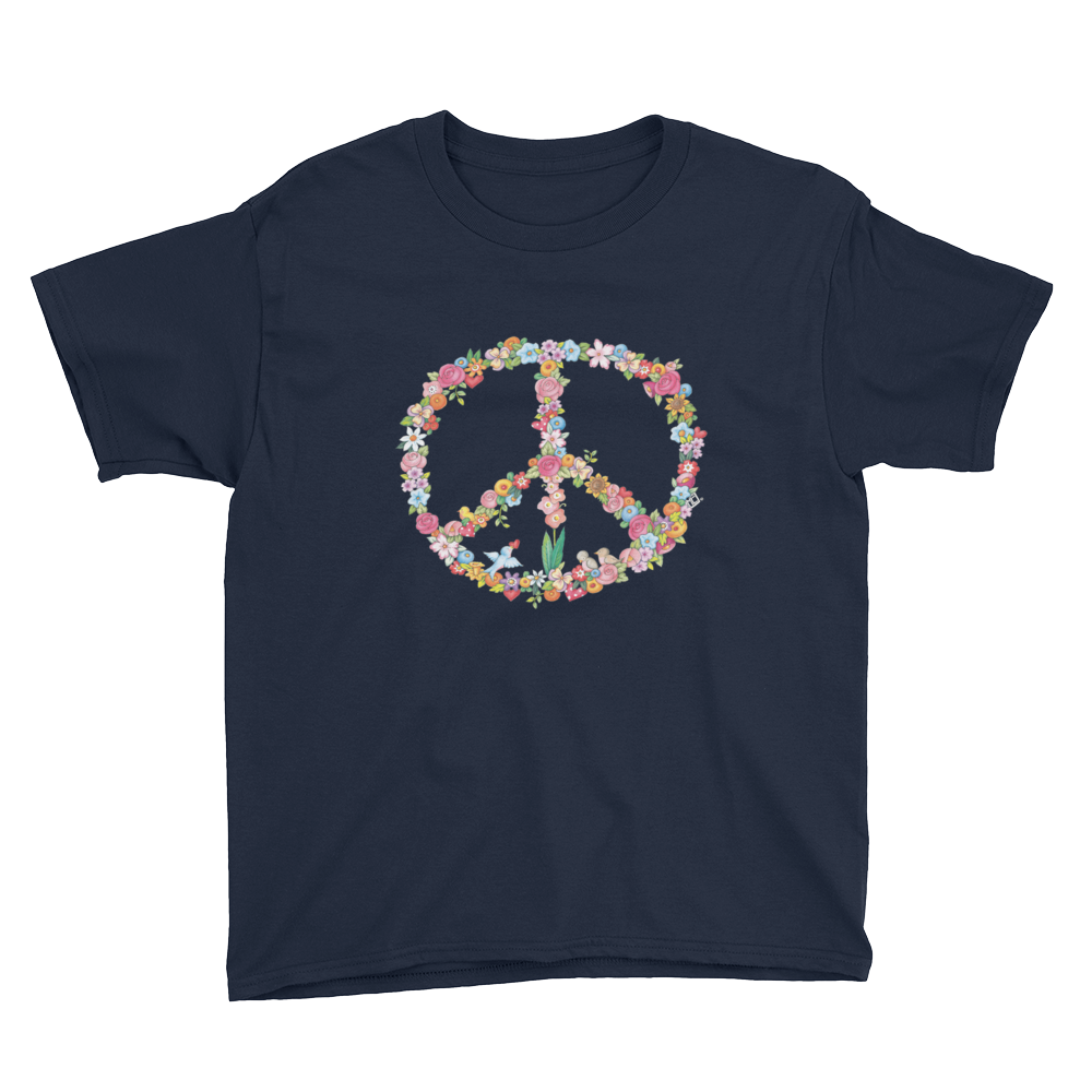 """Floral Peace"" Youth T-Shirt"