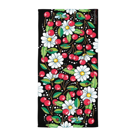 Cherry Daisy Towel