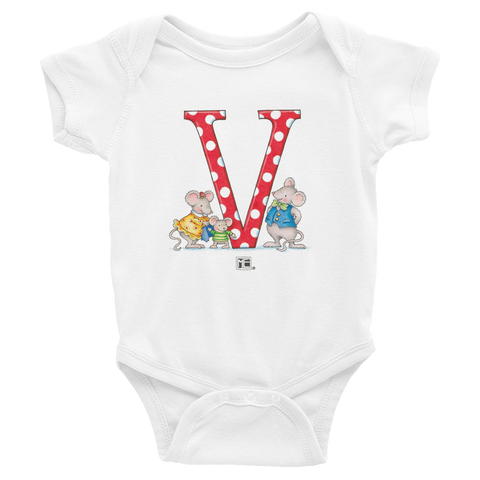 "A Merry Little Christmas ""Letter V"" Infant Bodysuit"