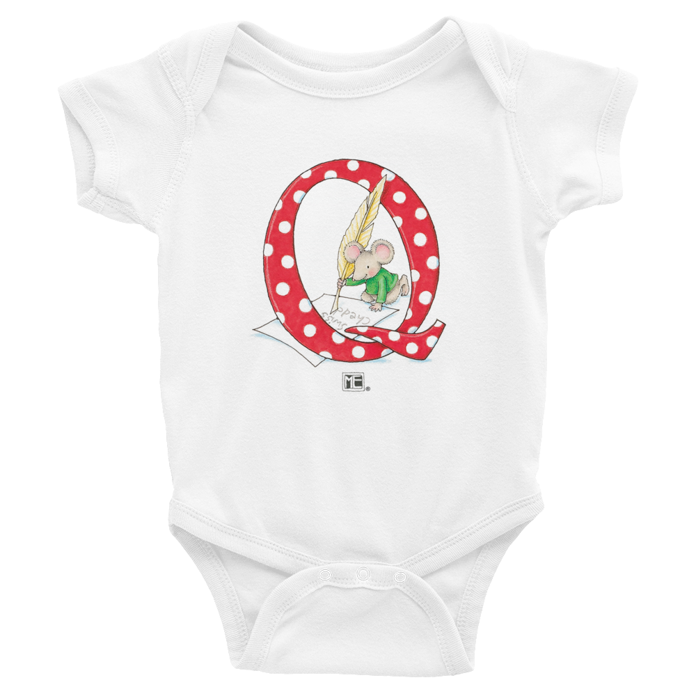 "A Merry Little Christmas ""Letter Q"" Infant Bodysuit"