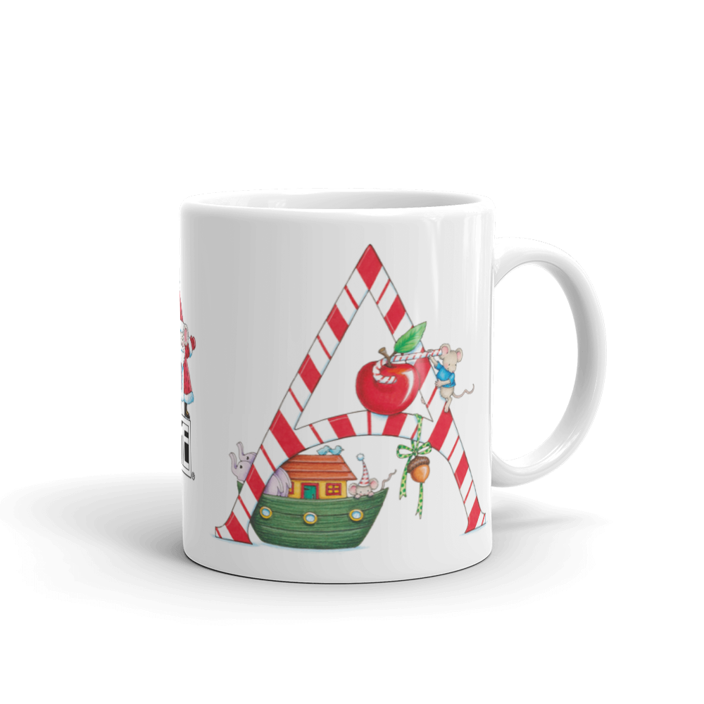 "A Merry Little Christmas ""Letter A"" Mug"