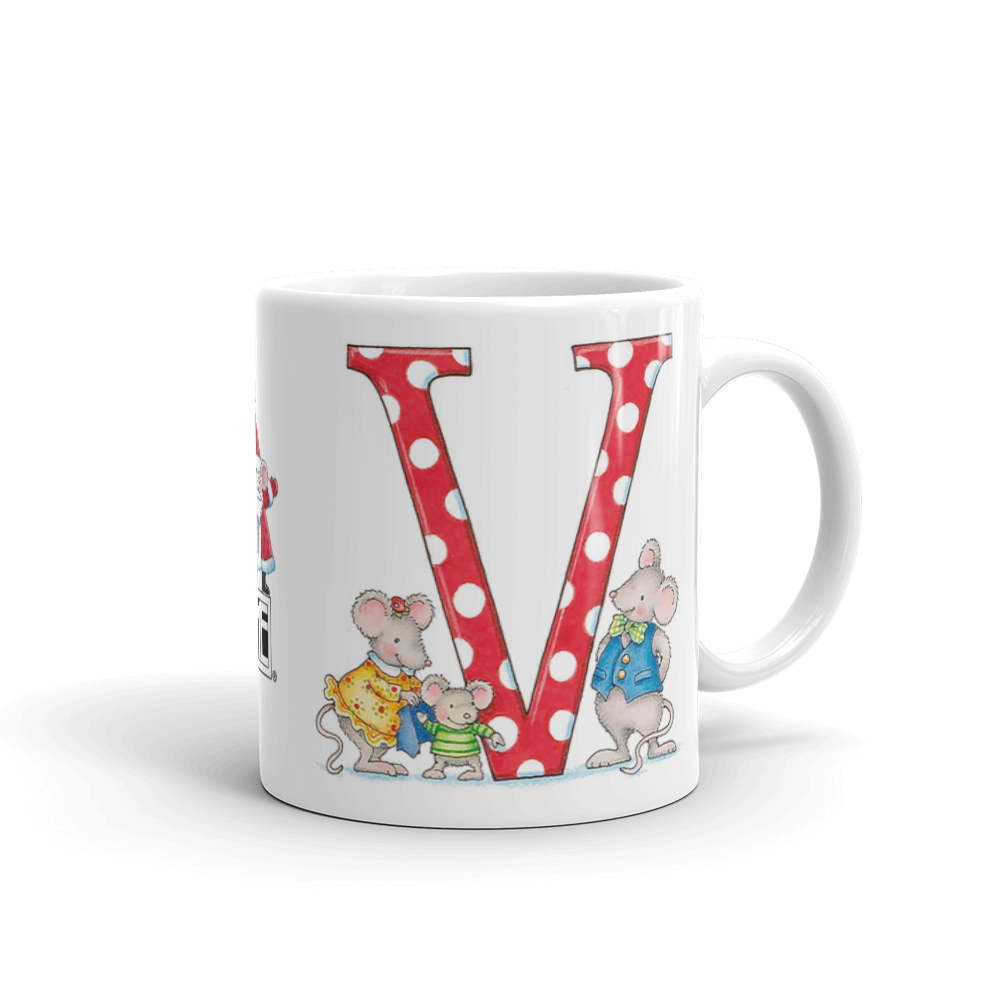 "A Merry Little Christmas ""Letter V"" Mug"