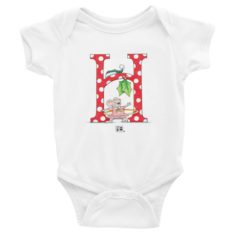"A Merry Little Christmas ""Letter H"" Infant Bodysuit"