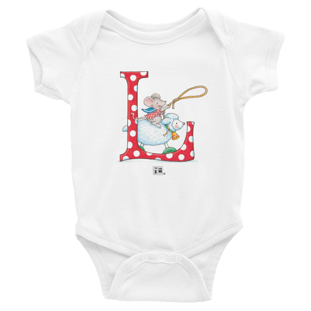 "A Merry Little Christmas ""Letter L"" Infant Bodysuit"