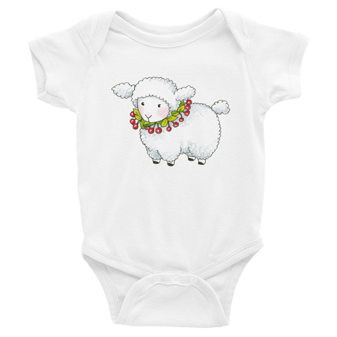 """Cherry Lamb"" Infant Bodysuit"