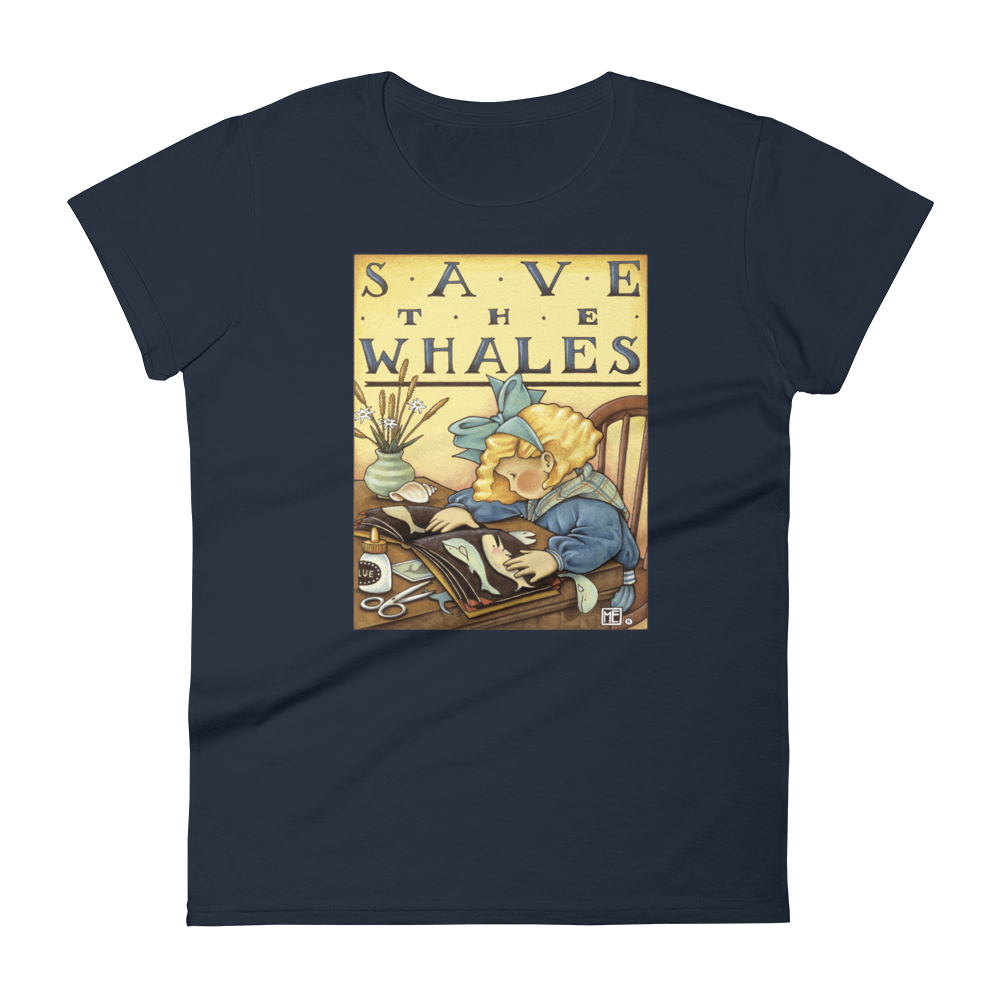 """Save the Whales"" Women's T-shirt"