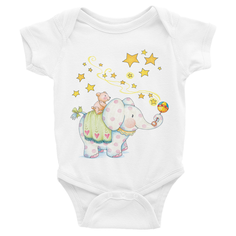 """Baby Elephant"" Infant Bodysuit"